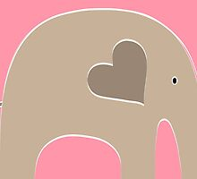 Safari Elephant - Pink by Elephant Love
