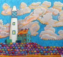 394 - FANTASY LIGHTHOUSE - DAVE EDWARDS - COLOURED PENCILS - 2013 by BLYTHART