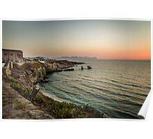 Terrasini sunset Poster