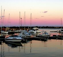 Sunset at the Marina by Kathleen M. Daley