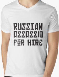 Russian Assassin for Hire Mens V-Neck T-Shirt