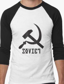 Soviet Hammer and Sickle Men's Baseball ¾ T-Shirt