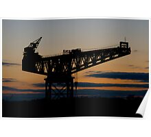 Crane Sunset Poster