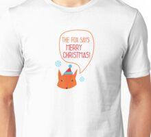 The Fox says Merry Christmas! Unisex T-Shirt