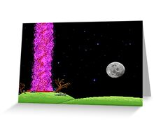 Night of the meteor 2 Greeting Card