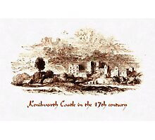 A digital painting of Kenilworth Castle in the 17th century Photographic Print