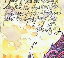 Illustrated quote, Anaïs Nin by misscristal