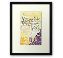 Illustrated quote, Anaïs Nin Framed Print