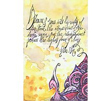 Illustrated quote, Anaïs Nin Photographic Print