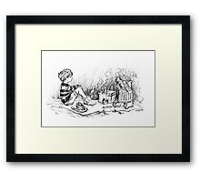 Deep in the 221 Acre Wood Framed Print
