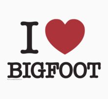 I Love Bigfoot T-Shirt by thebigfootstore