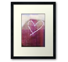 be still my beating heart Framed Print