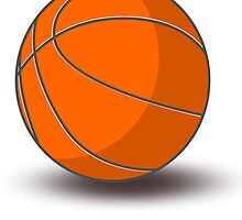 Orange Basketball by kwg2200