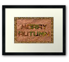 MORAY AUTUMN Framed Print