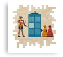 ancient doctors & daleks, oh my! Canvas Print
