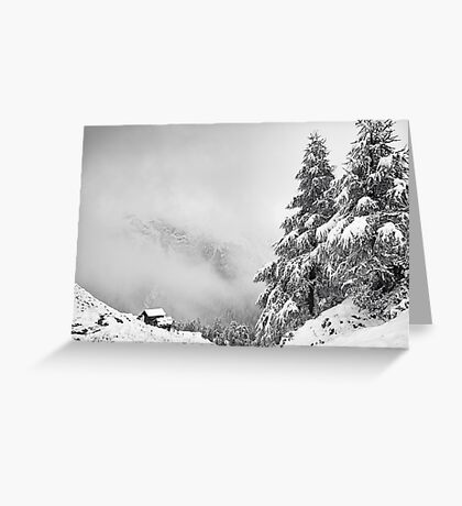 Chalet with a view Greeting Card