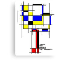 De Stijl - Trees! How Gastly! Canvas Print