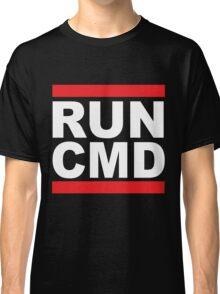 Run Command White Text Classic T-Shirt