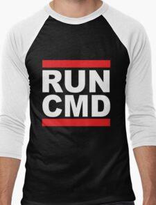 Run Command White Text Men's Baseball ¾ T-Shirt