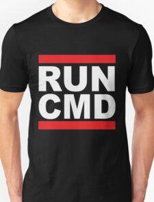 Run Command White Text T-Shirt