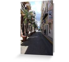 Old San Juan Greeting Card