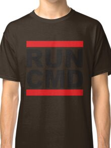 Run Command Black Text Classic T-Shirt