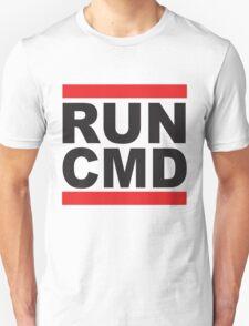 Run Command Black Text Unisex T-Shirt