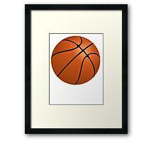 Orange Basketball Framed Print