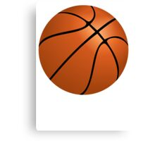 Orange Basketball Canvas Print