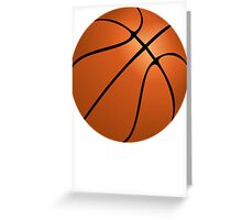 Orange Basketball Greeting Card