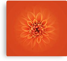 Citrus Orange Burst Canvas Print