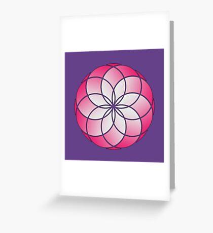 Flower of Life - Pink Haze Greeting Card