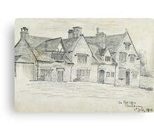 """Pencil sketch - """"Broadway"""" 1908 Canvas Print"""