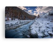 Chilly River Canvas Print