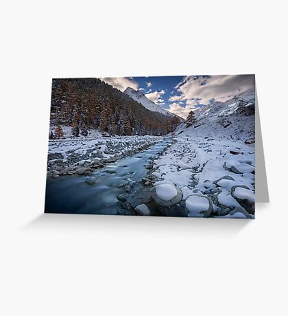 Chilly River Greeting Card