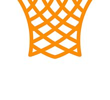 Orange Basketball Net by kwg2200