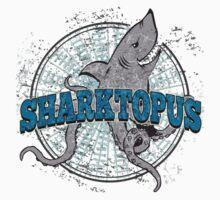 Sharktopus - Shark Octopus Hybrid Sea Monster - Shark Attack - Shark Octopus Horror B Movie Parody Kids Clothes