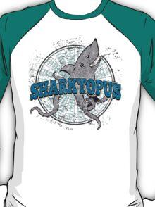 Sharktopus - Shark Octopus Hybrid Sea Monster - Shark Attack - Shark Octopus Horror B Movie Parody T-Shirt