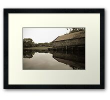Mirror boathouse Framed Print