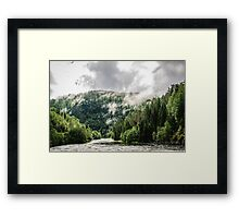 here be trolls Framed Print