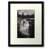 Waterfall in Jasper National Park Framed Print
