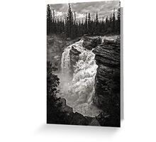 Waterfall in Jasper National Park Greeting Card