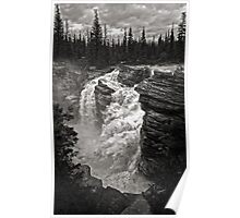 Waterfall in Jasper National Park Poster