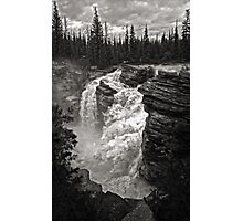 Waterfall in Jasper National Park Photographic Print
