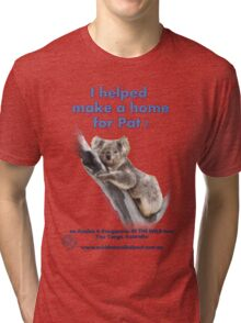 Make a Home for Pat - light background Tri-blend T-Shirt