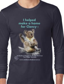 Make a Home for Clancy - dark background Long Sleeve T-Shirt