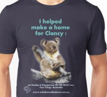 Make a Home for Clancy - dark background Unisex T-Shirt