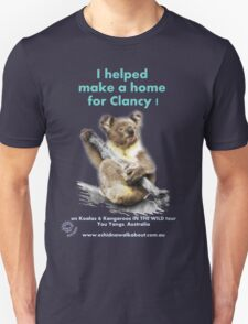 Make a Home for Clancy - dark background T-Shirt