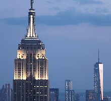 Empire State Building at night by GregorDyer