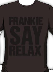 Frankie Say Relax 80's Retro Print T-Shirt